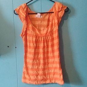 Orange striped shirt